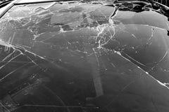 Broken car windscreen Royalty Free Stock Photography