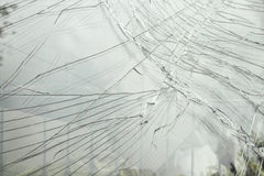 Broken car windscreen Stock Images