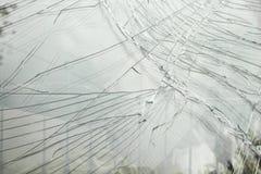 Broken car windscreen Stock Images