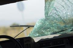 Broken Car Windshield Royalty Free Stock Photos