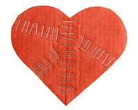 Broken cardboard heart Royalty Free Stock Photos