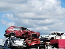Broken cars Stock Photo