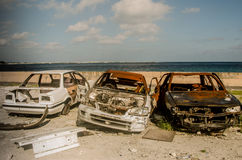 Broken cars Royalty Free Stock Images