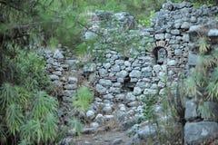 Broken Castle. God of Mountain castle in Olympus, Antalya stock photos