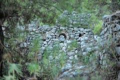 Broken Castle. God of Mountain castle in Olympus, Antalya stock photography