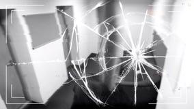 Broken CCTV camera lens, evidence destruction at crime scene, protection device. Stock photo royalty free stock photo