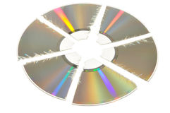 Broken CD Stock Photo