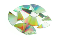 Broken CD Royalty Free Stock Photography