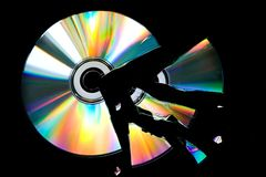 Broken CD Stock Image