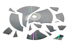 Broken CD Royalty Free Stock Photos