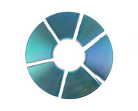 Broken cd Stock Photography
