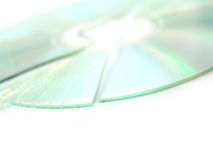 broken cd dvd Royaltyfria Bilder