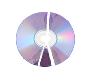 Broken CD isolated Stock Photography