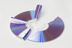 Broken Cd Or Dvd Royalty Free Stock Photography