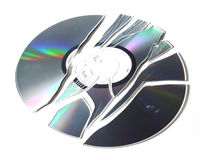Broken CD-R. Stock Photos