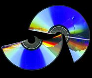 Broken cd rom scan Royalty Free Stock Photo