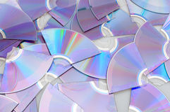 Broken CDs Stock Photo
