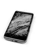 Broken cell phone Royalty Free Stock Photography