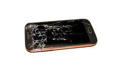 Broken cell phone royalty free stock photo