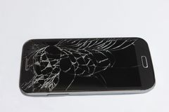 Broken cell phone stock images