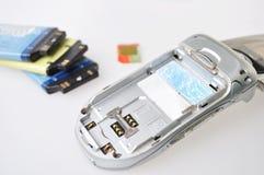 Broken cellphone Stock Images