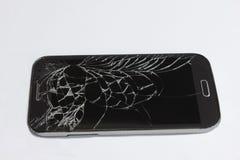 broken celltelefon arkivbilder