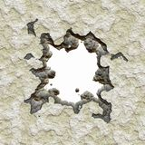 Broken cement wall Stock Images
