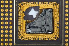 Broken Central Processor Unit Royalty Free Stock Image