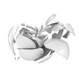 Broken ceramic apple Stock Photo