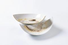 Broken ceramic bowl Royalty Free Stock Images