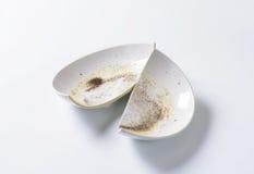 Broken ceramic bowl Stock Photo