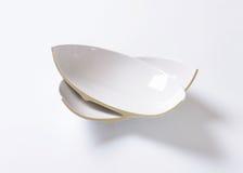 Broken ceramic bowl Stock Image