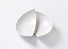 Broken ceramic bowl Stock Images