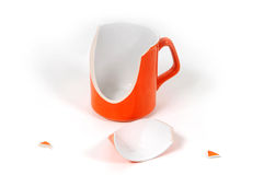 Broken ceramic cup Royalty Free Stock Photos