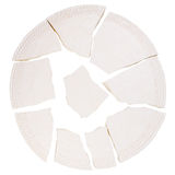 Broken ceramic plate Stock Photography