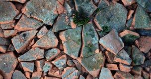 broken ceramic roof tiles Stock Images