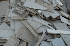 Broken ceramic tiles Stock Image