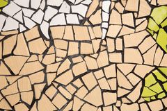 Broken ceramic wall. Stock Photo