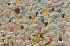 Broken ceramics dishes in wall background. Turkey Royalty Free Stock Photography