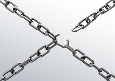 Broken chain. Cg illustration of Broken chain Royalty Free Stock Image