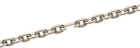 Broken chain Royalty Free Stock Image