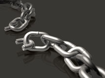 Broken Chain. With depth of field effect Stock Image
