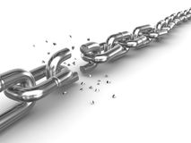 Broken chain Stock Images