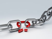 Broken chain Royalty Free Stock Photo