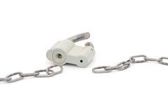 broken chain lås Fotografering för Bildbyråer