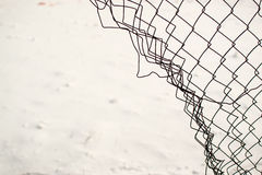 Broken Chain Link Fence Royalty Free Stock Image