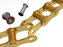 Broken chain and rusty link Royalty Free Stock Photos