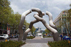 The Broken Chain Sculpture in Berlin on Tauentzienstrasse Stock Photography