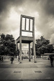 Broken Chair on Place des Nations Royalty Free Stock Images