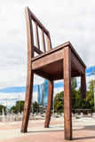 Broken Chair on the Place des Nations, Geneva Stock Photography